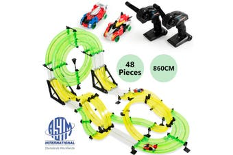 860CM Slot Racing Car Track Set Car Race Playset Remote Control Kids RC Toy Gift