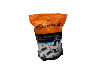 Gallagher G66910 Super Polytape Insulator BAG of 25 Electric Fencing