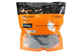Gallagher Steel Post Pinlock Insulator G68604 Electric Fence Bag of 25