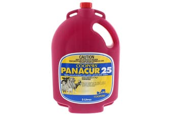 Coopers Panacur 25 Oral Anthelmintic for Sheep Cattle Goats Fenbendazole 5L