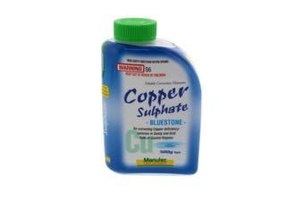 Copper Sulphate Bluestone Soluble Corrects Copper Deficiences Manutec 500g