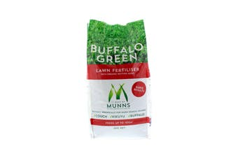 Lawn Fertiliser Buffalo Green With Wetting Agent Munns 5kg Covers up to 100 sqm