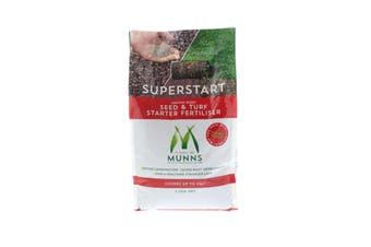 Superstart Lawn and Turf Starter Fertiliser Munns 2.5kg Covers up to 25 sqm