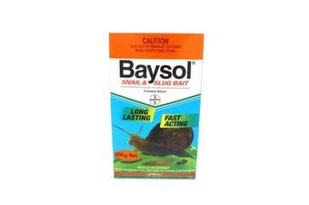 Baysol Snail & Slug Killer Long Lasting Fast Acting Mould Resistant Bayer 600g