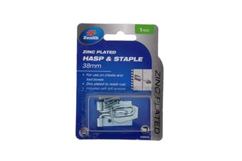 Hasp & Staple Wire Zinc Plated 38mm For Tool Boxes and Chests Zenith