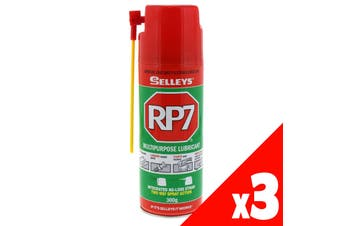 RP7 Multipurpose Lubricant Loosens Rusted Parts 300g Aerosol Spray Can 3 Pack