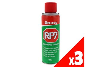 RP7 Multipurpose Lubricant Loosens Rusted Parts 150g Aerosol Spray Can 3 Pack