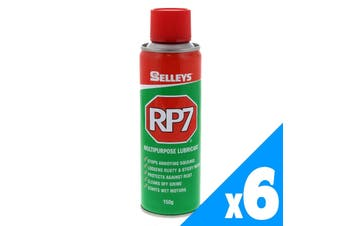 RP7 Multipurpose Lubricant Loosens Rusted Parts 150g Aerosol Spray Can 6 Pack