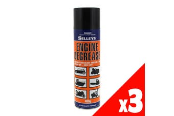 Degreaser Engine Spray On Hose Off 400g Aerosol Spray Can Selleys 3 Pack