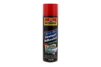 Contact Adhesive Spray Can 350g Motospray Automotive Marine Craft Fast Cure