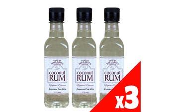 3 Pack Samuel Willards Pre-Mix Coconut Rum Liqueur 375ml Home Brew