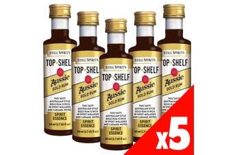 Still Spirits Top Shelf AUSSIE GOLD RUM Essence x5 50ml Spirit Making Home Brew