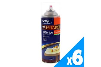 Estapol Aerosol Satin Interior Spray Paint 300g Wattyl Honey Toned Look 6 Pack