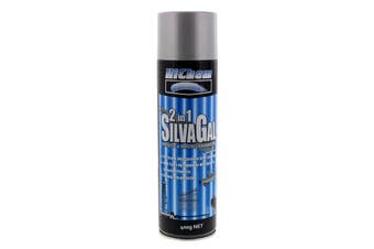 Silver Gal 2 in 1 Spray Paint Can 400g HiChem Anti-Corrosive Protection