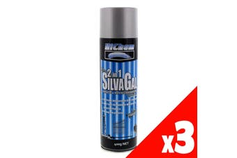 Silver Gal 2 in 1 Spray Paint Can 400g HiChem Anti-Corrosive Protection 3 Pack