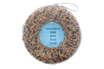 Wild Bird Seed Super Ring 1200ml Bird Food Treat Oats Wheat Barley Safflower