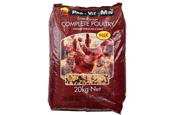 Complete Poultry Mix 20kg Contains Omega 3 6 9 Plus Added Garlic Balanced Diet