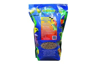 Vetafarm South American Mix Bird Aviary 2kg Parrot  Balanced Extruded Pellet