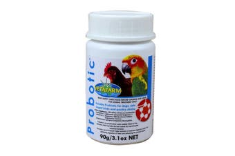 Vetafarm Probiotic for Caged Birds Poultry Chicks Dogs & Cats 90g (3.1oz net)