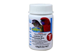 Vetafarm Triple C Antibiotic for Ornamental Birds Aviary 100g