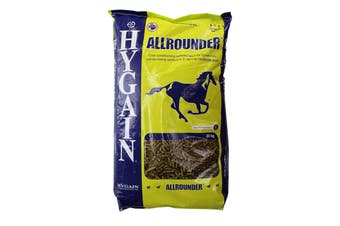 Hygain Allrounder Pelletised Super Fibre Selenium Horse Feed Food 20kg