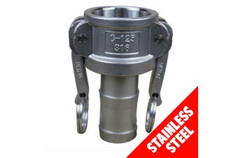 "Camlock STAINLESS STEEL 316 40mm (1 1/2"") Type C Fem Coupler x Hose Shank"