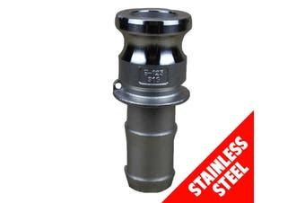 "Camlock STAINLESS STEEL 316 40mm (1 1/2"") Type E Male Adaptor x Hose Shank"