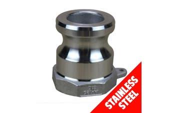 "Camlock STAINLESS STEEL 316 25mm (1"") Type A Male Adaptor x Fem BSP Cam Lock"