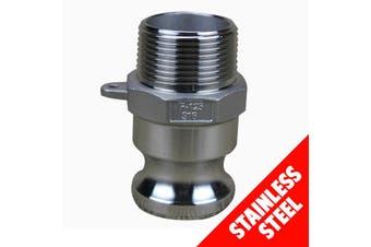 "Camlock STAINLESS STEEL 316 25mm (1"") Type F Male Adaptor x Male Cam Lock"