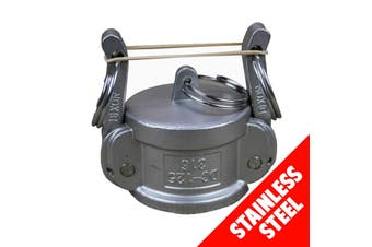 "Camlock STAINLESS STEEL 316 40mm (1 1/2"") Type DC Dust Cap Cam Lock Coupling"