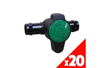 GREEN BACK VALVE 25mm Low Dens. Fittings Garden Water Irrigation 45545 BAG of 20