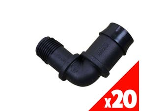 ELBOW Threaded 25mm x 1/2 Inch Male Low Density Poly Fittings 44925 BAG of 20