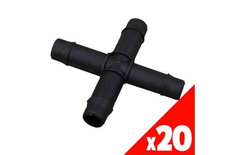 CROSS 13mm Barbed Poly BAG of 20 HRC12 Garden Water Irrigation Hydroponic