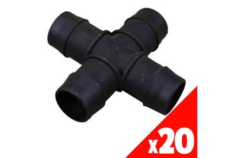 CROSS 25mm Barbed Poly BAG of 20 HRC10 Garden Water Irrigation Hydroponic