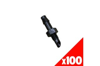 ADAPTOR JOINER 4.5mm Barb/Thread Micro Irrigation Poly Fittings 40995 BAG of 100