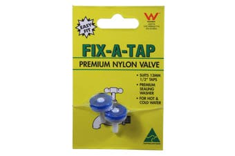 Fix-A-Tap Premium Nylon Tap Valve 13mm 1/2 Inch 2 Pack 222091 Plumbing