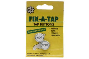 Fix-A-Tap Tap Buttons Hot And Cold 19mm x 5mm Deep 218117 Plumbing
