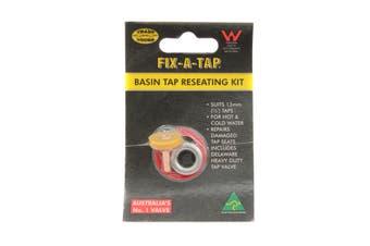 Fix-A-Tap Basin Tap Reseating Kit Suits 13mm Taps Repair Damaged Seats 222329