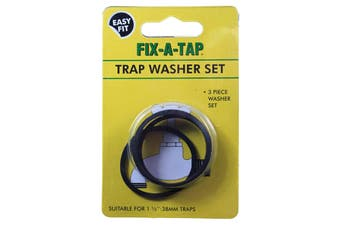 Fix-A-Tap Trap Washer Kit For 38mm 1 1/2 Inch Traps 3 Piece 203809