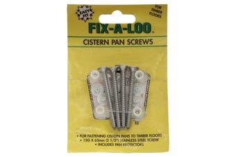 Fix-A-Tap Cistern Pan Screws 12G x 63mm Fasten Cistern to Timber Floors 209863