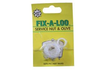 Fix-A-Tap Service Nut & Olive Suits PVC Inlet Valves 209399 Plumbing