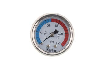 Newline Pool Spa Pressure Gauge Stainless Steel Centre Mount Heavy Duty