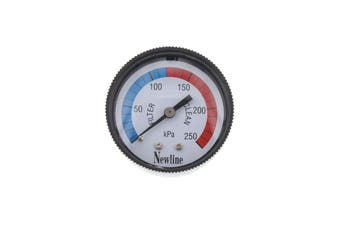 Pool Spa Pressure Gauge Centre Mount Plastic Case Easy Fitting Replacement Tough