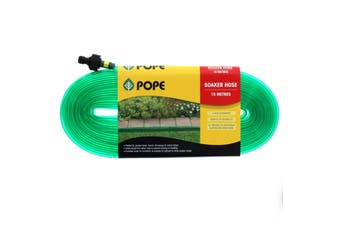 Garden Soaker Hose 15m Fitted UV Treated Pope Tap Ready Fitted Paths Beds