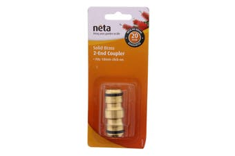 Neta Brass Coupling Joiner Click On 18mm Hose Garden Water Fitting Quality