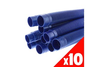 Pool Hose Barfell 1m Long 38mm Blue Newline Pool Spa 10 Pack