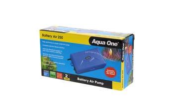 Aquarium Air Pump Battery Air 250 Portable 150L/Hr Fish Tank Aqua One Aquarium