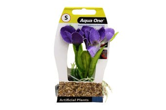 Aquarium Plant VIOLET with Log Base SMALL 28185 Fish Tank Aqua One