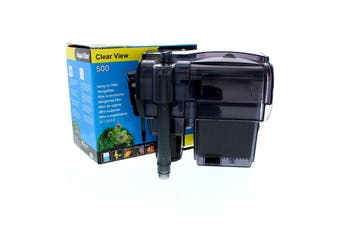 500 Clearview Hang On Filter 500L/Hr 29028 Fish Tank Aquarium Aqua One