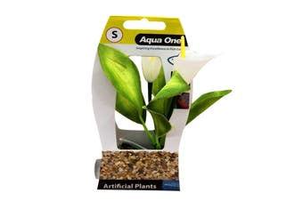 Aquarium Plant CALLA LILY with Log Base SMALL 28184 Fish Tank Aqua One
